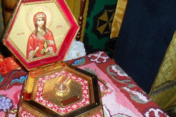 В лечебное исправительное учреждение № 4 УФСИН России по Самарской области привезли ковчег с мощами Святой Анастасии Узорешительницы