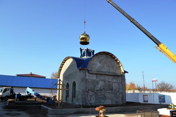 В ИК-6 УФСИН России по Самарской области состоялось возведение купола на церковь в честь иконы Божией Матери «Взыскание погибающих»